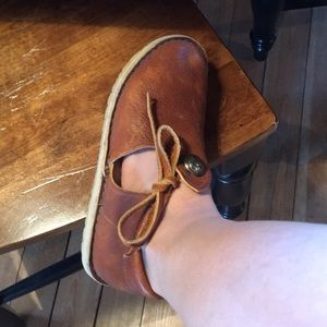 Shoes - Leather moccasin style shoes